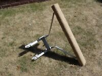 Ladder standoff attachment for easy gutter access etc