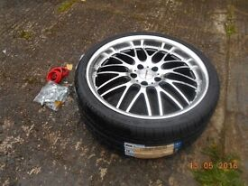 """Set of 4 Brand New 19"""" Multi fit Alloys & new Tyres bought for VW Passat"""