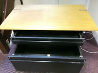 FREE black metal drawer unit with wooden top