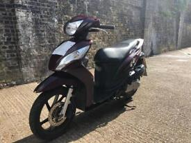 FULLY WORKING 2015 Honda Vision 50cc scooter 50 cc moped delivery bike with 1 year mot.
