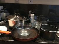 Pick up Marble Arch- saucepans cutlery plates bowls