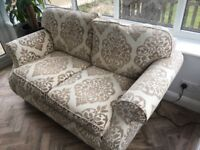 Beautiful shabby chic style two seater sofa