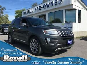 2016 Ford Explorer Limited 4WD...Moonroof, Leather, Nav, Rear ai