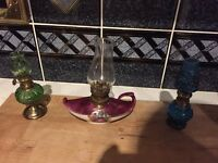 Vintage mini lamps