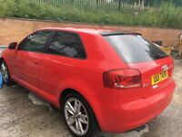 2009 AUDI A3 TDI E SPORT - DIESEL IN RED. A/C, SPORTS SEATS