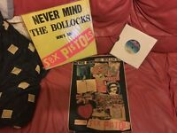 RARE-Sex PisTOLs- NEVER MIND THE BOLLOCKS 1978 LP-1977 SINGLE, POSTER-LATE 70'S