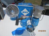 Collection of retro Vintage camping GAZ light/ stove equipment Bleuet, Diateur
