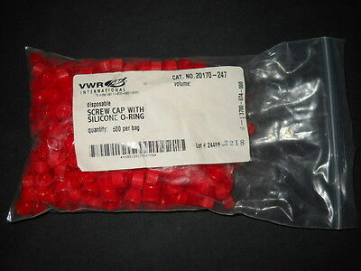420 Vwr Red Disposable 2ml Tube Screw Caps W Silicone O-ring 20170-247