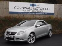 VOLKSWAGEN EOS 2.0 SPORT TSI 2d 198 BHP HEATED RED LEATHER+GLASS (silver) 2007