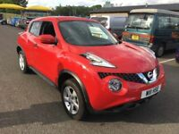 2017 Nissan Juke 1.6 Visia 5 doors - Almost New - only 2000 miles - Red - Excellent Condition