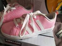 Girls Adidas trainers in pink size uk1