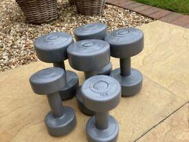 Weights Dumbbells - 2 x 3kg, 2kg, 1kg