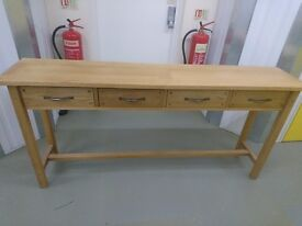 ***LAURA ASHLEY*** Oak Console Table with 4 Drawers (mint condition)