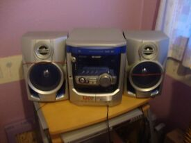 sharp compact stereo system ex working cond
