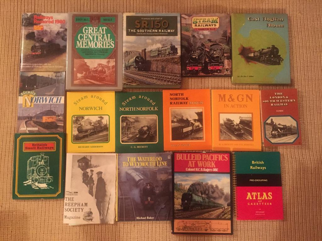 Large collection of 70 Railway and Steam Train books and ephemera. All in fantastic condition