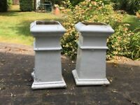 FREE: Two antique chimney pots/garden planters