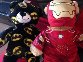 2 Build A Bear Batman and Ironman for sale