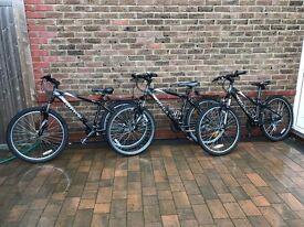 """£190 JOBLOT 3x Giant Boulder Mountain Bikes 26"""" Wheel XS, S, M Sizes."""