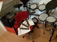 Roland TD-12K Electronic Drum Kit Plus Many Extras