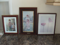 Three Small Framed Pictures