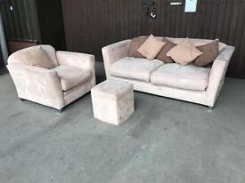 Sofa arm chair and foot stool