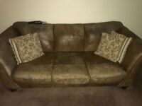 3 piece sofa and poffee for sale