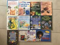 art books - drawing, watercolours, painting