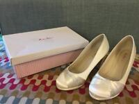 RAINBOW CLUB IVORY SATIN BRIDAL SHOES FOR SALE