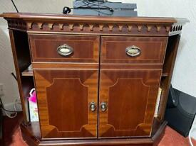Wooden sturdy TV Cabinet with storage and self
