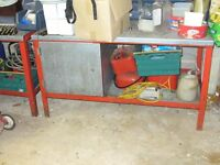 Steel Workbench and Tool Trolley