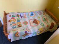 Saplings Pine Junior Bed, Mattress, Pillow, Duvet and Bedding - UVGC