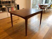 Stylish mid century teak Danish style extending dining table