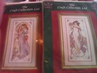 New counted cross stitch kit by the craft collection.2 matching kits of Art Nouveau Ladies