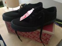 Boys size uk3 all black Vans trainers (brand new still with tag)