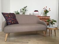 2 Seater Habitat MOMO Sofa in Natural - nearly new, only 4 months old!