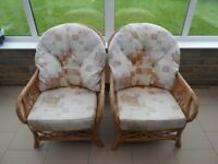 Conservatory Armchairs and Two Seat Sofa