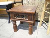 VINTAGE SHEESHAM WOOD COFFEE TABLE