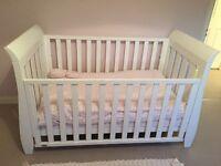 Boori Urbane Sleigh Cot Bed - White