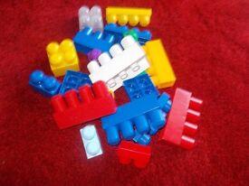 Mega Bricks 12 lots of 20 Bricks per pack £1 per lot or 6 lots for £5
