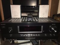 Sony Multi Channel AV Receiver STR-DH500 + 2 PANASONIC HDMI RDS 5.1 satellite speakers REMOTE SET