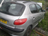 peugeot 206, all parts available, rear axle too