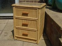 wooven bamboo cabinet