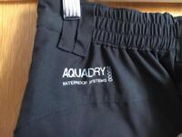 Black Craghoppers Aquadry waterproof trousers - Size 8 R