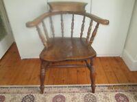 Antique oak Captains chair.