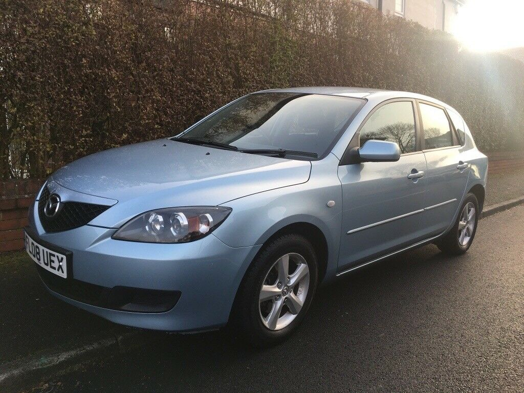 MAZDA 3 2008 1.6 PETROL MANUAL 5DR, 78K, 2 OWNERS, NEW CLUTCH,