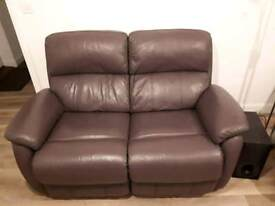 2 x 2 Seater Leather reclining sofas