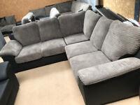 Amy Grey&Black Corner Sofa (Fast&Free Delivery)