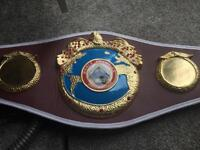 WBO WORLD TITLE BOXING CHAMPIONSHIP BELT