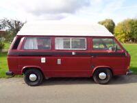 VW T25 Camper van. 1.9L Watercooled. High top. 2 berth. MOT. Great condition.