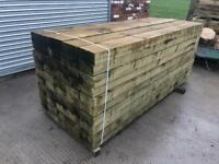 🐛 Tanalised Wooden Railway Sleepers > 190 X 90 X 2.4M